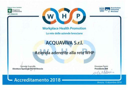 Dipendenti più felici e più sani in un ambiente di lavoro che promuove la salute: Acquaviva è ora nella rete WHP.